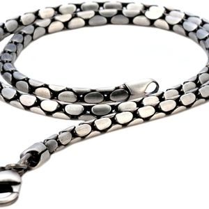 New silver chain necklace by bico
